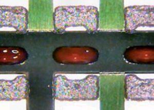 Отпечатки клея и паяльной пасты для компонента 0805